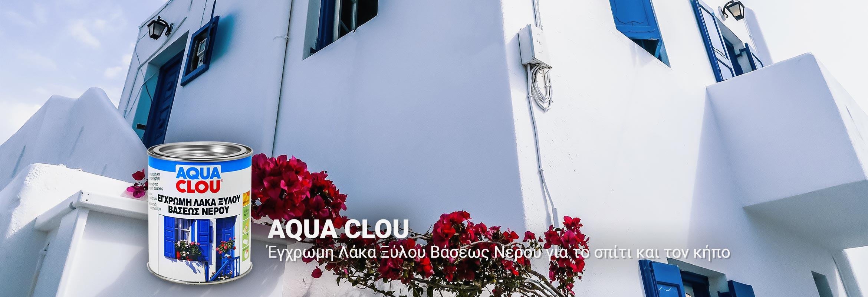 CLOU AQUA Έγχρωμη Λάκα Ξύλου Βάσεως Νερού