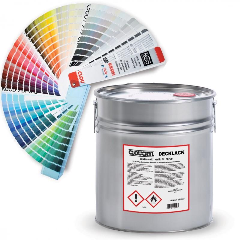 CLOUCRYL Decklack Χρώματα με Χρωματολόγιο